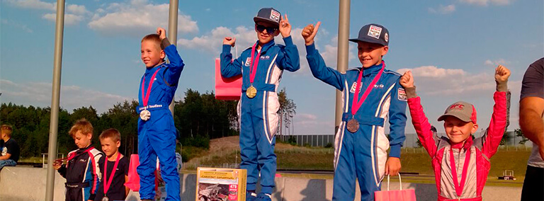Жара и скорость: состоялся 5-6 этап Чемпионата Республики Беларусь по картингу
