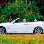 Белый кабриолет BMW 3 E93 2008