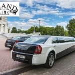 Черный лимузин Chrysler 300C на свадьбу