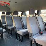 Фото салона микроавтобуса Toyota Hiace на 11+1 пассажирских мест