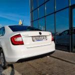 Skoda Rapid 2019 1,6 бензин АКПП белого цвета